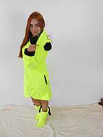 Женский домашний желтый махровый комплект Микки: халат+сапожки для дома. Арт-4808