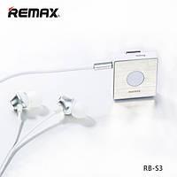 Вакуумная гарнитура Remax Bluetooth headset RB-S3 white