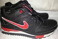 Ботинки мужские новые кожаные зимни AIR MAX 52 черно-красн