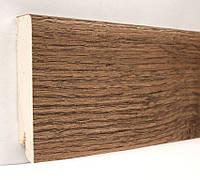 Плинтус деревянный (шпон) Kluchuk Модерн Дуб мокка 80х18х2400 мм.