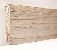 Плинтус деревянный (шпон) Kluchuk Модерн Дуб выбеленный 80х18х2400 мм.