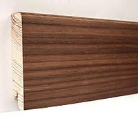 Плинтус деревянный (шпон) Kluchuk Модерн Орех американский 80х18х2400 мм.