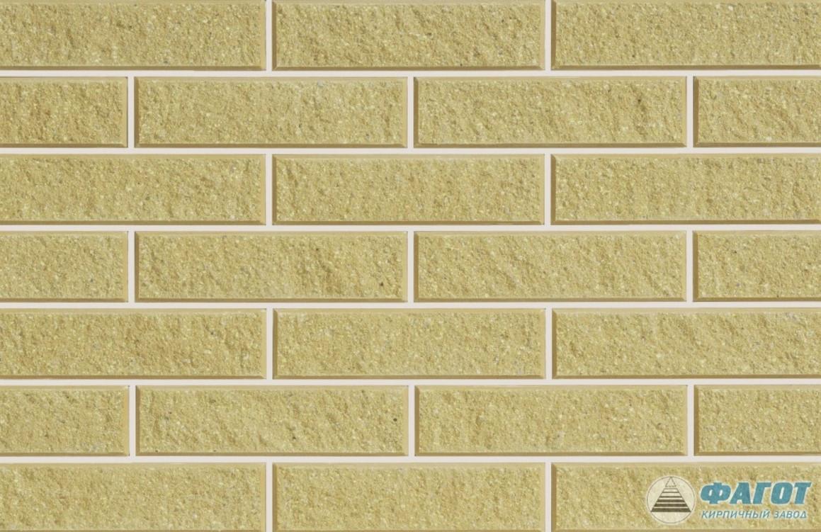 Плитка фасадная ФАГОТ мраморная желтая