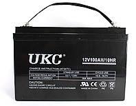 Аккумулятор BATTERY GEL 12V 100A UKC, гелевый кислотно-свинцовый аккумулятор, аккумуляторная батарея