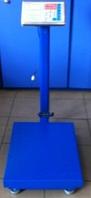 Торговые электронные весы ACS 300kg FOLD 40*50, весы напольные 300 кг, весы с аккумулятором на 6V