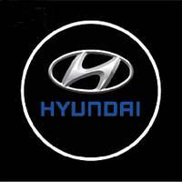 Светодиодный логотип на дверь авто LED LOGO 074 HYUNDAI, эмблема логотип hyundai, дверной логотип