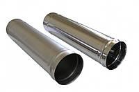 Труба для дымохода из нержавеющей стали 0,8 мм, (AISI 201) D = 130 мм, L = 500 мм