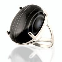 Оникс, 25*18 мм., серебро 925, кольцо, 112КО