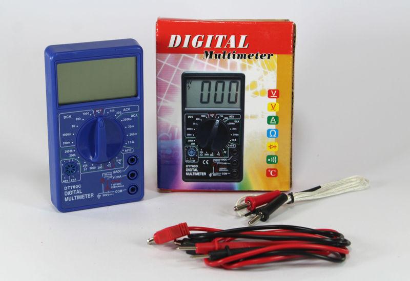Мультиметр DT 700C, тестер мультиметр, портативный цифровой мультиметр, измерительный прибор мультиметр - Интернет-магазин Как Дома в Киеве