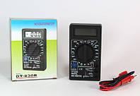 Мультиметр универсальный DT 830 B, мультиметр тестер вольтметр амперметр, портативный цифровой мультиметр