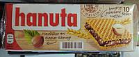 Немецкие вафли с шоколадно ореховой начинкой Hanuta 10шт 220 gramm