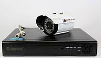 Комплект видеонаблюдения на 4 камеры + регистратор DVR KIT 6604 4ch, система камер видеонаблюдения 4 камеры