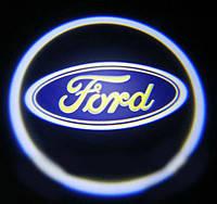 Светодиодный логотип на дверь авто LED LOGO 020 FORD, логотип эмблема ford, дверной логотип