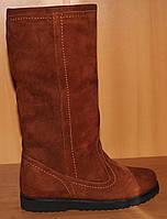 Детские сапоги зимние для девочки рыжие, зимняя детская обувь от производителя модель Э12