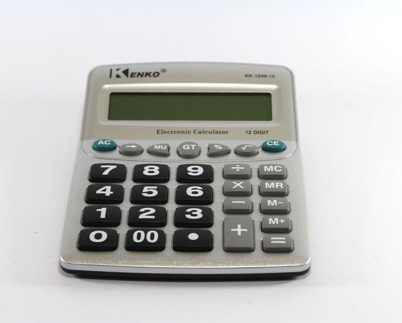 Калькулятор KK 1048, карманный калькулятор, калькулятор Kenko KK-1048-12, 12-разрядный электронный калькулятор - Интернет-магазин Как Дома в Киеве