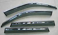 BMW X5 2015  ветровики с молдингом нерж сталь
