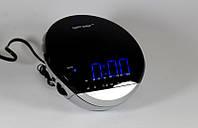 Настольные часы с радио Happy Sheep YJ-382, электронные часы с синей подсветкой