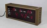 Часы с будильником и термометром LED ZX-13M, многофункциональные универсальные часы