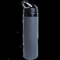 Бутылка для воды 650 мл со складываемым мундштуком,силиконовая, фото 1