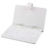 Чехол с клавиатурой для планшета 7 дюймов KEYBOARD 7 white micro (белый цвет)