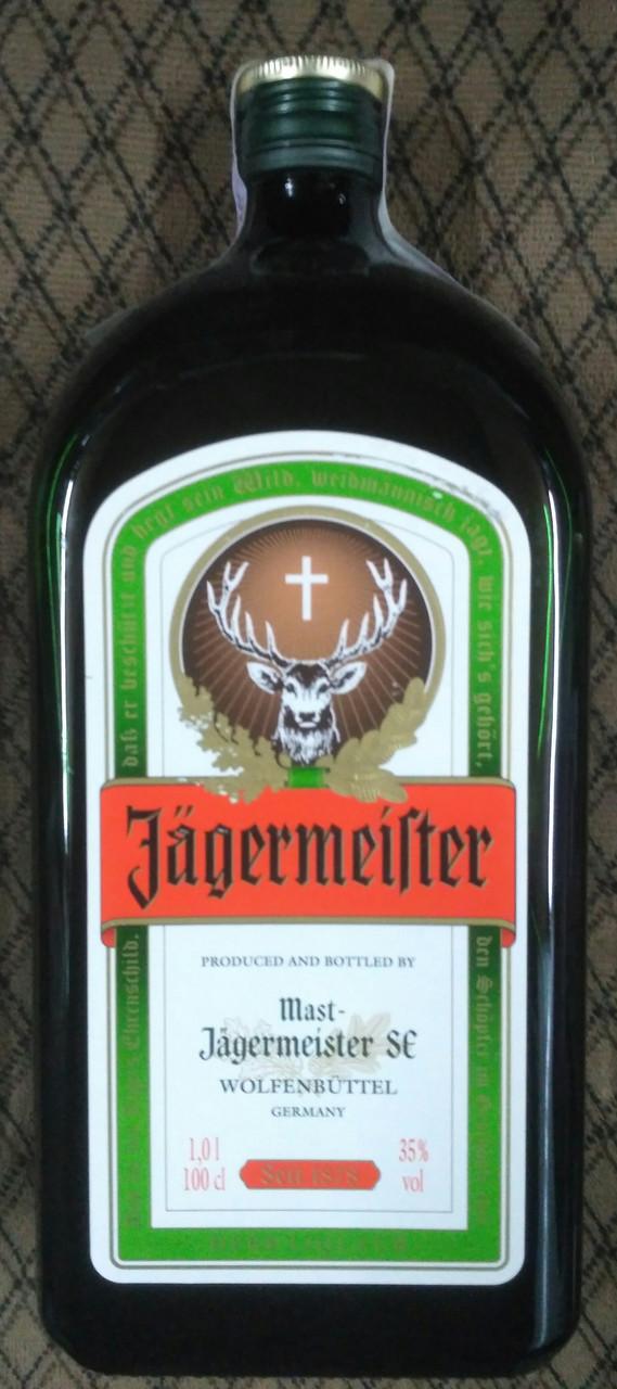 Немецкая ликер-настойка Jagermeister 1л 35%