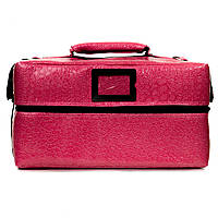 Профессиональный кейс для косметики с вынимающимся органайзером, розовый лаковый, фото 1