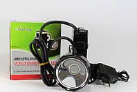 Фонарь налобный аккумуляторный 819-1, фонарик светодиодный, фонарик на голову