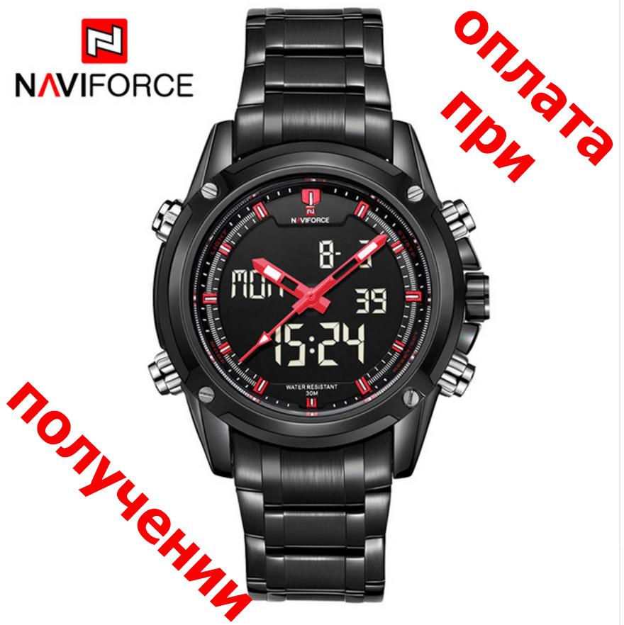Чоловічі військові, спортивні годинник NAVIFORCE Led ОРИГІНАЛ!