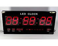 Настенные электронныесветодиодные часы CW 4622, цифровые часы с календарём и термометром