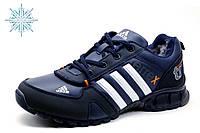 Зимние кроссовки Adidas Terrex, мужские, на меху, темно-синие, фото 1