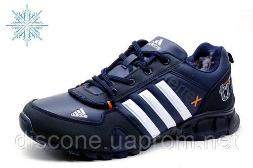 Зимние кроссовки Adidas Terrex, мужские, на меху, темно-синие