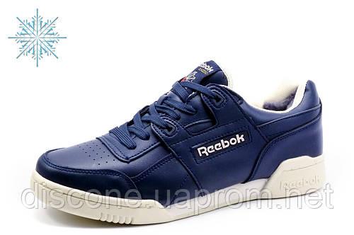 Reebok Classic, зимние кроссовки, мужские, на меху, темно-синие