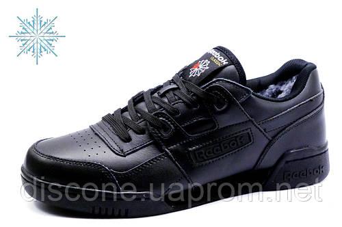 Reebok Classic, зимние кроссовки, мужские, на меху, черные