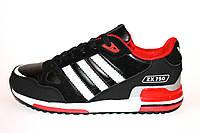 Мужские кроссовки Adidas ZX 750 (Black & Red)