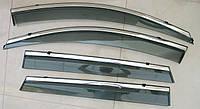 Kia Sorento UM 2015+ ветровики дефлекторы окон ASP с молдингом нержавеющей стали / sunvisors