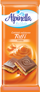 Шоколад молочный Alpinella Toffee 100г