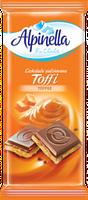 Шоколад молочный Alpinella Toffee 100г