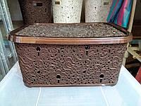 Корзина Elif 377 Ажур коричневая