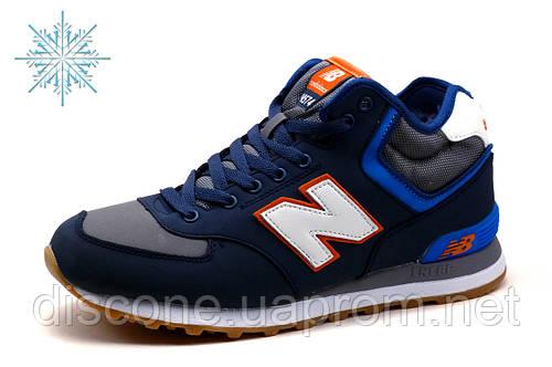 Кроcсовки зимние New Balance HM 574, мужские, темно-синие с серым