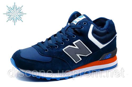 Кроcсовки зимние New Balance HM 574, мужские, замша, синие