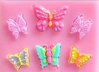 Молд силиконовый  набор бабочек №3