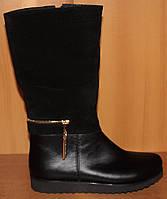 Сапоги зимние детские черные для девочки, зимняя детская обувь от производителя модель Э13.