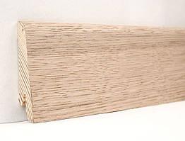 Деревянный плинтус напольный шпонированый 60х18х2400 мм., Дуб выбеленный