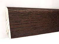 Деревянный плинтус напольный шпонированый 60х18х2400мм., Дуб коньяк