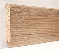 Плинтус деревянный (шпон) Kluchuk Модерн Дуб патина 80х18х2400 мм.