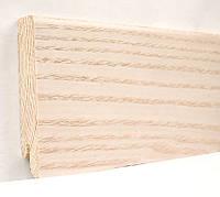 Плинтус деревянный (шпон) Kluchuk Модерн  Ясень выбеленный 80х18х2400 мм.