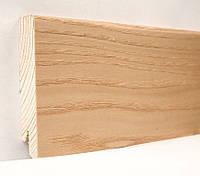 Плинтус деревянный (шпон) Kluchuk Модерн Ясень натуральный 80х18х2400 мм.
