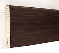 Плинтус деревянный (шпон) Kluchuk Модерн Венге 80х18х2400 мм.