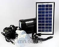 Фонарик с солнечной батареей GD 8017 (USB порт, 3 подвесные лампочки,USB кабель с переходниками)