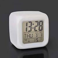 Часы хамелеон светящиеся CX 508, настольные многофункциональные часы с будильником